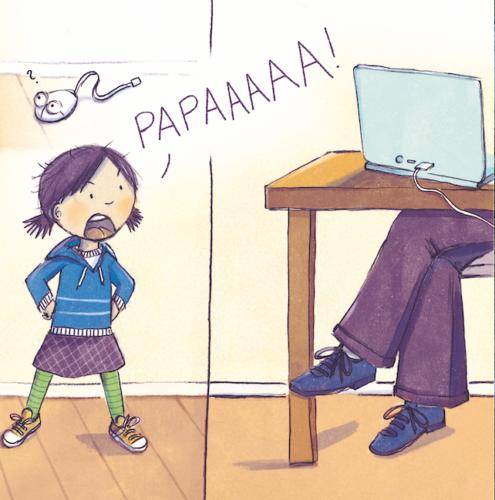 Lotta ruft Papa.